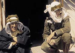 TE Lawrence and Lowell Thomas, Tinted photograph, © Lowell Thoma