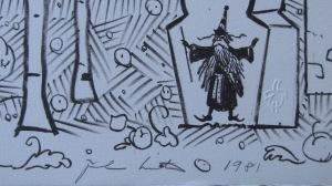 From John Hunter's rare Suite: a signature wizard in a corner. A little bit of magic.
